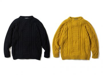 68&BROTHERS [ Hand Knit Cotton Cable Crew ] 2 COLORS