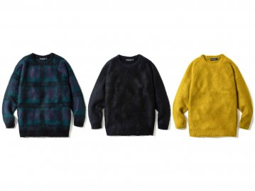 68&BROTHERS [ Mohair Crew Neck Sweater ] 3 COLORS