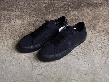 CONS [ ONE STAR PRO SUEDE ] BLACK x BLACK