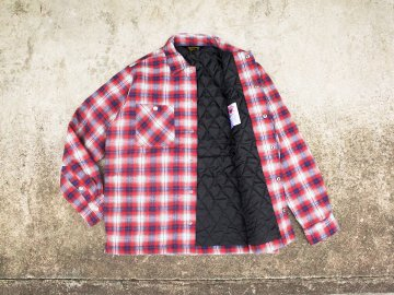 BLUCO [ QUILTING SHIRTS ] RED x NAVY