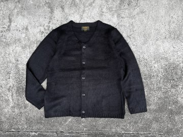 UNIVERD72 [ MOHAIR TOUCH SOLID CARDIGAN ] BLACK