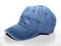 4 WHEEL PIPE / DENIM 6 PANEL CAP - INDIGO