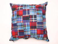 4 WHEEL PIPE [ PATCHWORK CUSHION ] - RED PLAID