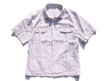<img class='new_mark_img1' src='https://img.shop-pro.jp/img/new/icons16.gif' style='border:none;display:inline;margin:0px;padding:0px;width:auto;' />INTERFACE [ STRIPE BOX OPEN SHIRTS ] - WHITE x NAVY x RED 【50% OFF】