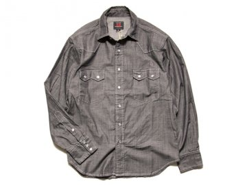 <img class='new_mark_img1' src='https://img.shop-pro.jp/img/new/icons16.gif' style='border:none;display:inline;margin:0px;padding:0px;width:auto;' />68&BROTHERS [ DENIM WESTERN SHIRTS ] BLACK【50% OFF!】