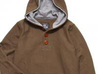 4 WHEEL PIPE [ HENLY HOODY ] - KHAKI x HEATHER GRAY