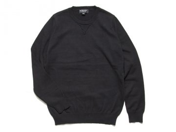 <img class='new_mark_img1' src='https://img.shop-pro.jp/img/new/icons16.gif' style='border:none;display:inline;margin:0px;padding:0px;width:auto;' />68&BROTHERS [ COTTON CREW SWEATER SINGLE V ] - BLACK【50% OFF】
