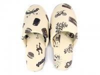 DELICIOUS HOME COLLECTION [ ROOM SHOES & CASE ] - CREAM