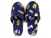 DELICIOUS HOME COLLECTION [ ROOM SHOES & CASE ] - NAVY