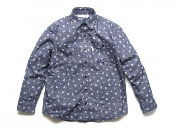 INTERFACE [ PAISLEY L/S SHIRTS ] NAVY【50% OFF】