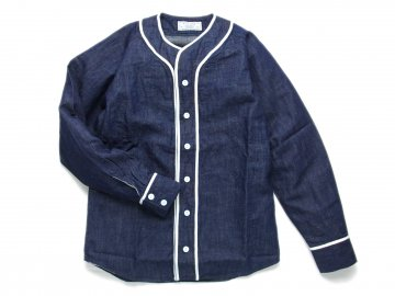 Nisus Hotel [ Japanese Selvedge Denim Baseball Shirt ] ONE WASH