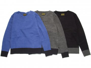 68&BROTHERS [ Wool Knit Boat Neck Sweater ]【30% OFF】