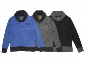 68&BROTHERS [ Wool Knit Shawl Sweater ]【30% OFF】