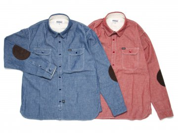 INTERFACE [ PAD CHAMBRAY SHIRTS ] 2 COLORS【40% OFF】