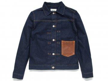 Nisus Hotel [ Leather Pocket Selvedge Denim Jacket ] ONE WASH