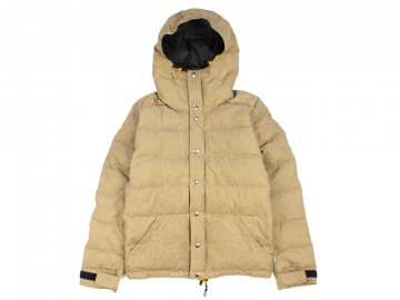 Delicious by Crescent down works [ Light Down Jacket Paraffin Wax Fabric ] TAN
