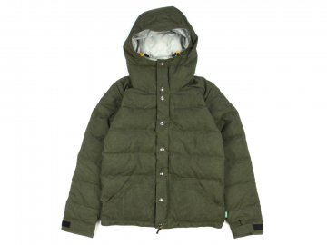 Delicious by Crescent down works [ Light Down Jacket Paraffin Wax Fabric ] OLIVE