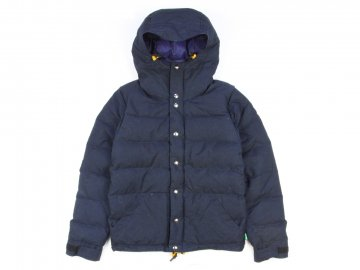 Delicious by Crescent down works [ Light Down Jacket Paraffin Wax Fabric ] NAVY