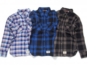 SKITLABEL [ Heavy Weight Flannel Shirts ] 3 COLORS