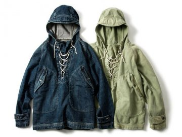 68&BROTHERS [ Herringbone ARMY Hood ] 2 COLORS