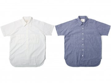 Nisus Hotel [ Short Sleeve Selvedge Shirt ] 2 COLORS