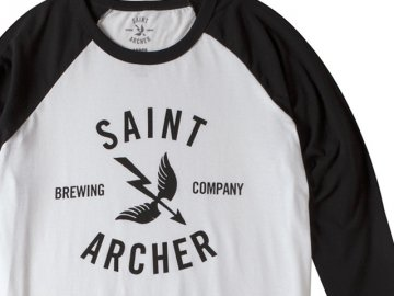 SAINT ARCHER BREWING CO. [ CLASSIC 3/4 Sleeve ] BLACK x WHITE