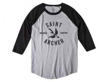 SAINT ARCHER BREWING CO. [ CLASSIC 3/4 Sleeve ] BLACK x H.GRAY