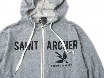 SAINT ARCHER BREWING CO. [ Zipper Hood Fleece ] HEATHER GRAY