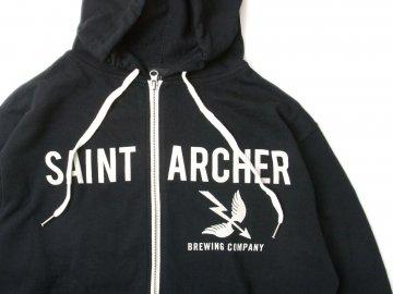 SAINT ARCHER BREWING CO. [ Zipper Hood Fleece ] BLACK