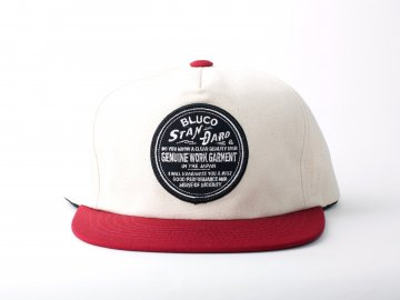 BLUCO [ ALL COTTON CAP -BLUCO PATCH- ] IVORY x BURGUNDY