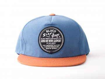 BLUCO [ ALL COTTON CAP -BLUCO PATCH- ] NAVY x ORANGE