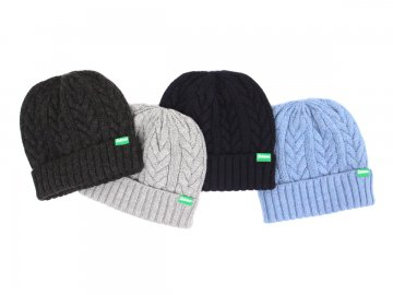 Delicious [ Hole Garment Aran Beanie ] 4 COLORS
