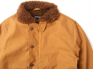 BRIXTON [ MAST Jacket ] BROWN x COPPER