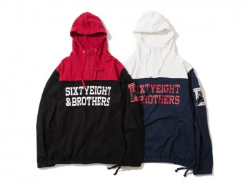 68&BROTHERS [ Zip Up Hood Sweat