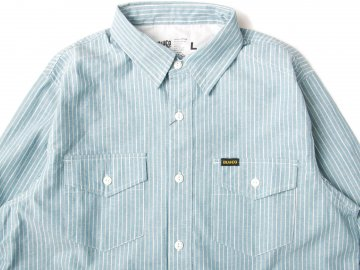 BLUCO [ CHAMBRAY WORK SHIRTS L/S ] STRIPE