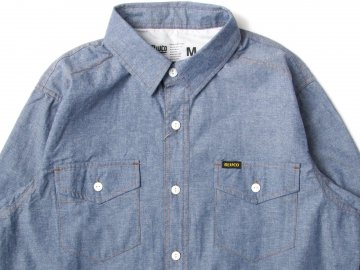 BLUCO [ CHAMBRAY WORK SHIRTS L/S ] NAVY
