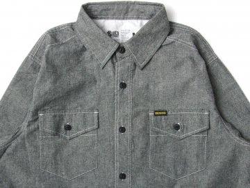 BLUCO [ CHAMBRAY WORK SHIRTS L/S ] BLACK