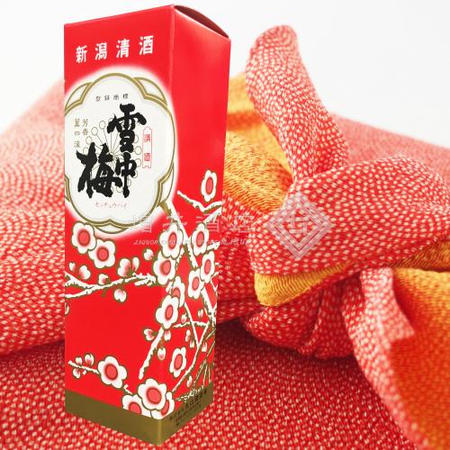 雪中梅 純米酒 720mlの1本入り化粧箱(箱のみ)