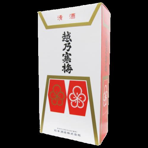 越乃寒梅 1.8L用の2本入り化粧箱(箱のみ)