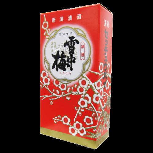 雪中梅 1.8L用の2本入り化粧箱(箱のみ)