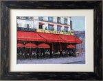 【絵画 油絵】手描き原画 パリのカフェ、ノートルダム(石川佳図)