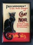 【手づくりフレーム】手彫りサインボード 黒猫