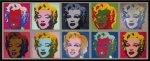 【ポップアート 名画】アンディ ウォーホル 10人のマリリンモンロー(1967)