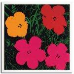 【ポップアート 名画】アンディ ウォーホル 花 赤・黄色・ピンク2輪(1967)