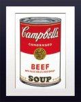 【ポップアート 名画】アンディ ウォーホル キャンベルのスープ缶 ビーフ