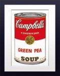 【ポップアート 名画】アンディ ウォーホル キャンベルのスープ缶 グリーンピース