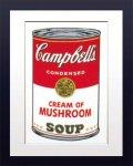 【ポップアート 名画】アンディ ウォーホル キャンベルのスープ缶 クリームマッシュルーム
