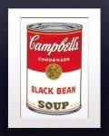 【ポップアート 名画】アンディ ウォーホル キャンベルのスープ缶 黒豆