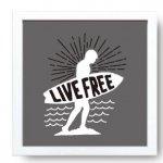 【アートフレーム】サインフレーム 自由に生きる。【ゆうパケット】