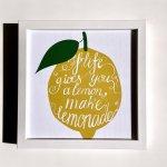 【アートフレーム】サインフレーム レモン【ゆうパケット】レモネードスタンド